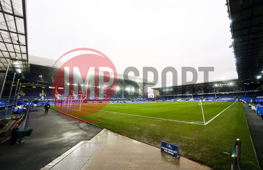 A general view of Goodison Park ahead of the Barclays Premier League fixture between Everton FC and Leicester City - Photo mandatory by-line: Matt McNulty/JMP - Mobile: 07966 386802 - 22/02/2015 - SPORT - Football - Liverpool - Goodison Park - Everton v Leicester City - Barclays Premier League