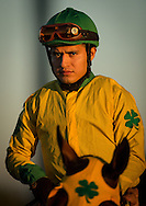 CYPRESS, CA - DEC 17: Mario Guttierez at the Winter Challenge Stakes at Los Alamitos Race Course on December 17,  2016 in Cypress, California. (Photo by Alex Evers/Eclipse Sportswire/Getty Images)