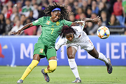 6?10??????????????????????????????????.Gabrielle Aboudi Onguene (L) of Cameroon vies with Kadeisha Buchanan (R) of Canada during..???????????????2019?6?11?.?????????——E??????????????.?????????????2019??????????E???????????1?0??????.?????????..(SP)FRANCE-RENNES-2019 FIFA WOMEN'S WORLD CUP-GROUP E-CANADA VS CAMEROON..(190611) -- MONTPELLIER, June 11, 2019  the group E match between Canada and Cameroon at the 2019 FIFA Women's World Cup in Montpellier, France on June 10, 2019. Canada won 1-0. (Credit Image: © Xinhua via ZUMA Wire)