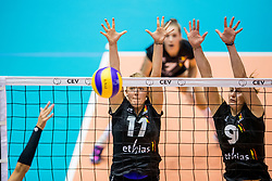 22-08-2017 NED: World Qualifications Belgium - Czech Republic, Rotterdam<br /> Els Vandesteene #11 of Belgium, Freya Aelbrecht #9 of Belgium