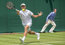 WIMBLEDON - UK - 27th June 2016: The Wimbledon Tennis Championships start at the All England Lawn Tennis Club, Wimbledon. S.E. London.<br /> <br /> Pic shows.;  Pierre-Hughes Herbert  (France )<br /> Photo by Ian Jones