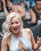 Jennifer Lawrence (Raven/Mystique) - The 'global fan screening' of Twentieth Century Fox's X-Men Apocalypse at the BFI IMAX at Waterloo.