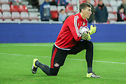 Sunderland goalkeeper Costel Pantilimon during the Capital One Cup match between Sunderland and Manchester City at the Stadium Of Light, Sunderland, England on 22 September 2015. Photo by Simon Davies.