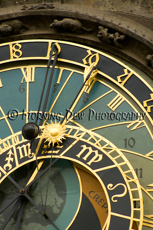 Detail of the astrological clock in Prague's Old Town Square.
