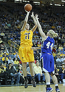 December 20, 2011: Iowa Hawkeyes center Bethany Doolittle (51) puts up a shot over Drake Bulldogs forward/center Stephanie Running (44) during the NCAA women's basketball game between the Drake Bulldogs and the Iowa Hawkeyes at Carver-Hawkeye Arena in Iowa City, Iowa on Tuesday, December 20, 2011. Iowa defeated Drake 71-46.