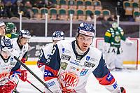 2019-10-15 | Umeå, Sweden: Västervik (73) Alexis Binner makes the first goal in HockeyAllsvenskan during the game  between Björklöven and Västervik at A3 Arena ( Photo by: Michael Lundström | Swe Press Photo )<br /> <br /> Keywords: Umeå, Hockey, HockeyAllsvenskan, A3 Arena, Björklöven, Västervik, mlbv191015