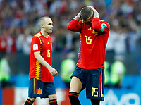 Andrew Iniesta and Sergio Ramos (Spain) disappointment during the penalties<br /> Moscow 01-07-2018 Football FIFA World Cup Russia  2018 <br /> Spain - Russia / Spagna - Russia <br /> Foto Matteo Ciambelli/Insidefoto