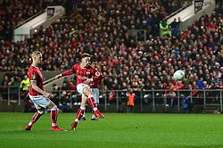 Josh Brownhill of Bristol City takes a shot at goal - Mandatory by-line: Dougie Allward/JMP - 20/12/2017 - FOOTBALL - Ashton Gate Stadium - Bristol, England - Bristol City v Manchester United - Carabao Cup Quarter Final