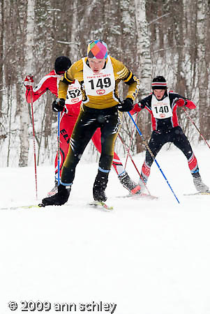 Boys Freestyle Ski Race at MN State HS Nordic Ski Race.