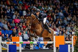 KÜHNER Max (AUT), Elektric Blue P<br /> Stuttgart - German Masters 2019<br /> Preis der Firma GEZE GmbH<br /> Int. Springprüfung mit Siegerrunde (1.50 m)<br /> CSI5*-W, Wertungsprüfung für LONGINES Ranking<br /> 16. November 2019<br /> © www.sportfotos-lafrentz.de/Stefan Lafrentz