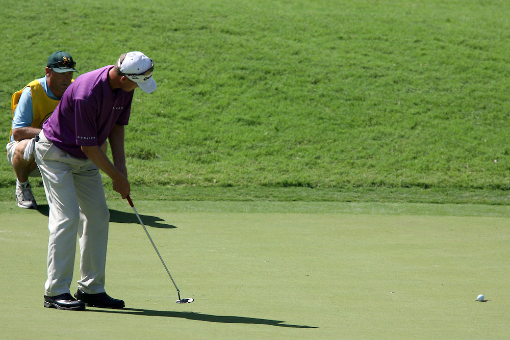 10 August 2007: John Senden makes a birdie on the 12th hole during the second round of the 89th PGA Championship at Southern Hills Country Club in Tulsa, OK.