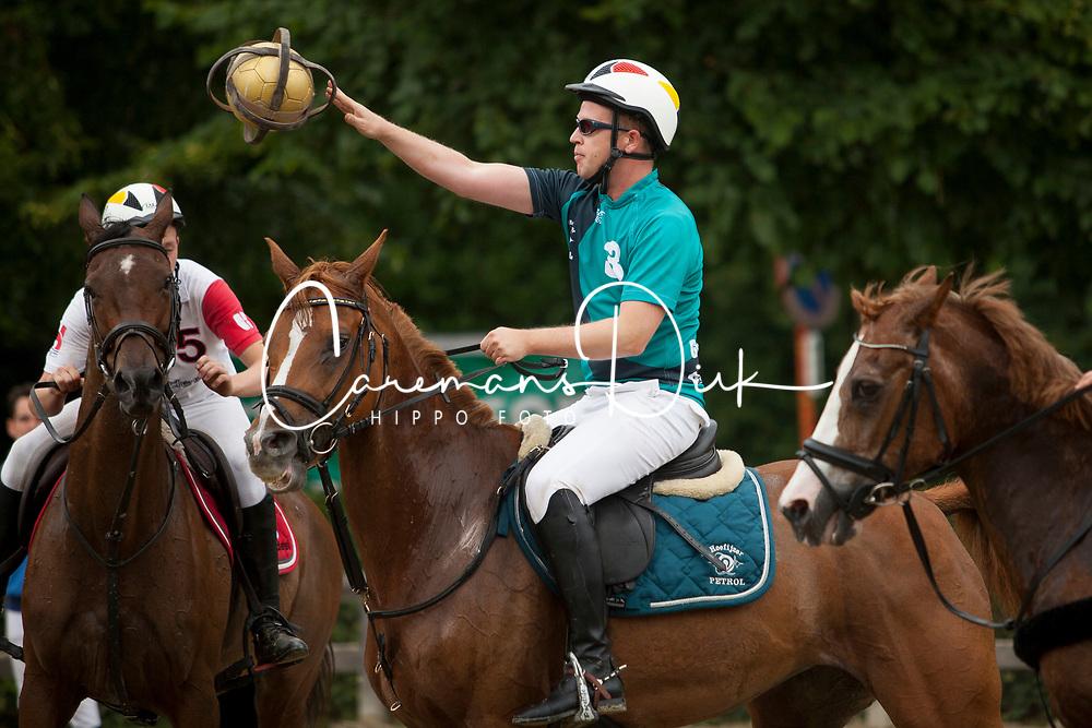 Schapmans Bjorn, BEL, Cora<br /> 't Hoefijzer 7 vs. 't Hoefijzer Petrol - Horseball Event 2017© Hippo Foto - Sharon Vandeput<br /> 2/07/17