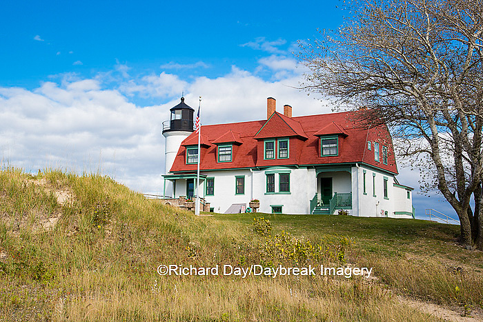 64795-00912 Point Betsie Lighthouse on Lake Michigan, Benzie County, Frankfort, MI