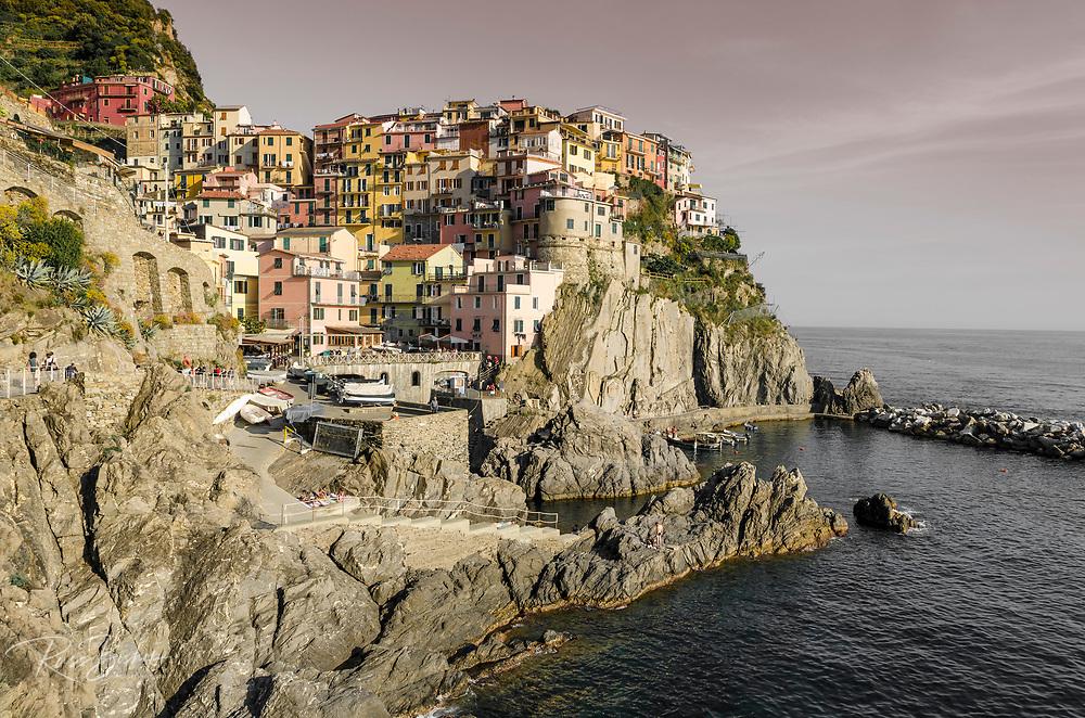 Afternoon light on Manarola, Cinque Terre, Liguria, Italy