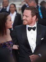 Actress Marion Cotillard and actor Michael Fassbender  at the gala screening for the film Macbeth at the 68th Cannes Film Festival, Saturday 23rd May 2015, Cannes, France.