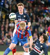 Calvin Colquhoun and John Black stop Aki Rihillhti - Crystal Palace v Dundee - Julian Speroni testimonial match at Selhurst Park<br /> <br />  - © David Young - www.davidyoungphoto.co.uk - email: davidyoungphoto@gmail.com