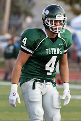 12 October 2013:  Tate Musselman during an NCAA division 3 football game between the North Park vikings and the Illinois Wesleyan Titans in Tucci Stadium on Wilder Field, Bloomington IL