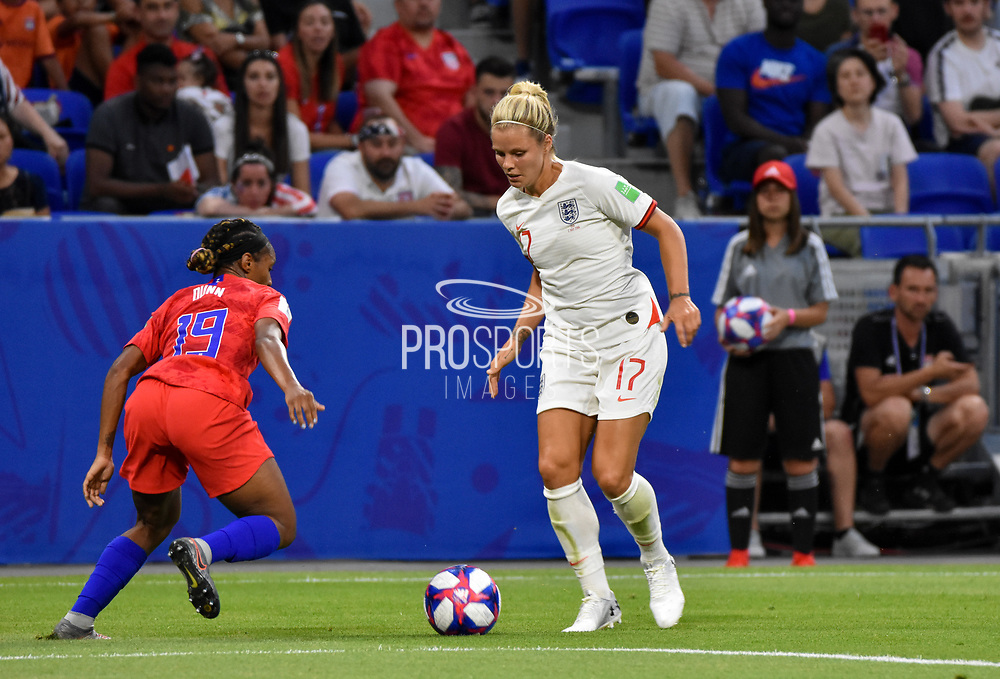 Rachel Daly of England controls the ball during the FIFA Women's World Cup France 2019, semi-final football match between England and USA on July 2, 2019 at Stade de Lyon in Lyon, France - Photo Melanie Laurent / A2M Sport Consulting / ProSportsImages / DPPI