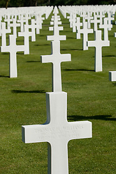 The Normandy American Cemetery and Memorial at Saint Laurent, near Colleville-sur-Mer, Normandy, France, that honors American troops, servicemen and women, who died in Europe during World War II.<br /> The site covers 172.5 acres and contains 9,388 graves.