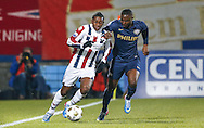 Onderwerp/Subject: Willem II - PSV - Eredivisie<br /> Reklame:  <br /> Club/Team/Country: <br /> Seizoen/Season: 2012/2013<br /> FOTO/PHOTO: Virgil MISIDJAN (L) of Willem II in duel with Jetro WILLEMS (R) of PSV. (Photo by PICS UNITED)<br /> <br /> Trefwoorden/Keywords: <br /> #04 $94 &plusmn;1355239962240 &plusmn;1355239962240<br /> Photo- &amp; Copyrights &copy; PICS UNITED <br /> P.O. Box 7164 - 5605 BE  EINDHOVEN (THE NETHERLANDS) <br /> Phone +31 (0)40 296 28 00 <br /> Fax +31 (0) 40 248 47 43 <br /> http://www.pics-united.com <br /> e-mail : sales@pics-united.com (If you would like to raise any issues regarding any aspects of products / service of PICS UNITED) or <br /> e-mail : sales@pics-united.com   <br /> <br /> ATTENTIE: <br /> Publicatie ook bij aanbieding door derden is slechts toegestaan na verkregen toestemming van Pics United. <br /> VOLLEDIGE NAAMSVERMELDING IS VERPLICHT! (&copy; PICS UNITED/Naam Fotograaf, zie veld 4 van de bestandsinfo 'credits') <br /> ATTENTION:  <br /> &copy; Pics United. Reproduction/publication of this photo by any parties is only permitted after authorisation is sought and obtained from  PICS UNITED- THE NETHERLANDS