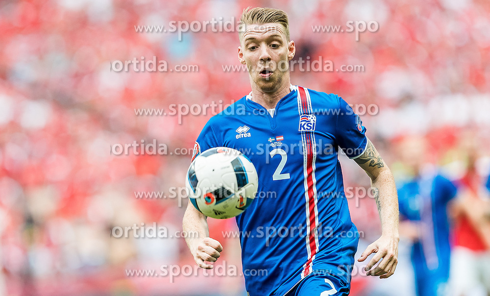 23.06.2016, Stade de France, St. Denis, FRA, UEFA Euro 2016, Island vs Oesterreich, Gruppe F, im Bild Birkir Saevarsson (ISL) // Birkir Saevarsson (ISL) during Group F match between Iceland and Austria of the UEFA EURO 2016 France at the Stade de France in St. Denis, France on 2016/06/23. EXPA Pictures © 2016, PhotoCredit: EXPA/ JFK
