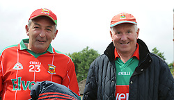 Mayo supporter Tom Cawley and Austin Corcoran from Glenisland were amoung the Mayo supporters at McHale Park on saturday last.<br /> Pic Conor McKeown