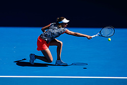 January 20, 2019 - Melbourne, VIC, U.S. - MELBOURNE, VIC - JANUARY 19: ELISE MERTENS (BEL) during day six match of the 2019 Australian Open on January 19, 2019 at Melbourne Park Tennis Centre Melbourne, Australia (Photo by Chaz Niell/Icon Sportswire) (Credit Image: © Chaz Niell/Icon SMI via ZUMA Press)