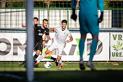 Žiga Kous of Mura and Nemanja Tomašević of Rudar during football match between NS Mura and NK Rudar in 6th Round of 6th Round of Prva liga Telekom Slovenije 2019/20, on Avgust 18, 2019 in Fazanerija, Murska Sobota, Slovenia. Photo by Blaž Weindorfer / Sportida