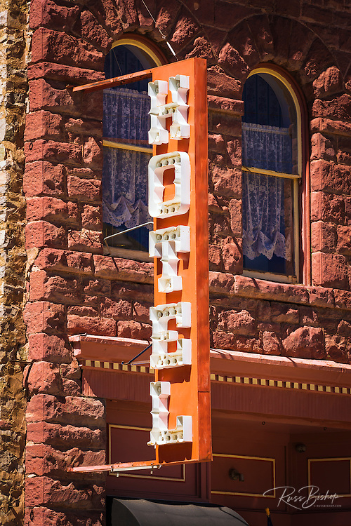 Historic downtown hotel, Silverton, Colorado USA