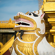 Dragon statue at Soon Oo Pon Nya Shin Pagoda. Sitting on top of Nga-pha Hill, Soon Oo Pon Nya Shin Pagoda is one of multiple pagodas and temples in the religious district of Sagaing, near Mandalay. The original pagoda dates to 674.