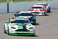Jamie Chadwick (GBR) / Matthew George (GBR)  #42 Generation AMR Macmillan Racing  Aston Martin V8 Vantage GT4  Aston Martin 4.7L V8 British GT Championship at Rockingham, Corby, Northamptonshire, United Kingdom. May 01 2016. World Copyright Peter Taylor/PSP.