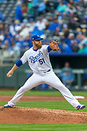 March 29, 2018 - Kansas City, MO, U.S. - KANSAS Kansas City, MO - MARCH 29: Kansas City Royals relief pitcher Tim Hill (51) on the mound during the major league opening day game against the Chicago White Sox on March 29, 2018 at Kauffman Stadium in Kansas City, Missouri. (Photo by William Purnell/Icon Sportswire) (Credit Image: © William Purnell/Icon SMI via ZUMA Press)