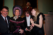 LARS THARP; GRAYSON PERRY ;  JULIAN LLOYD WEBBER;; CERRIE BURNELL; Founding Fellows 2010 Award Ceremony. Foundling Museum on Monday  8 March