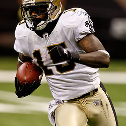 August 21, 2010; New Orleans, LA, USA; New Orleans Saints wide receiver Courtney Roby (15) during a 38-20 win by the New Orleans Saints over the Houston Texans during a preseason game at the Louisiana Superdome. Mandatory Credit: Derick E. Hingle