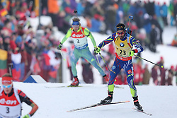 10.03.2016, Holmenkollen, Oslo, NOR, IBU Weltmeisterschaft Biathlion, Oslo, 20km, Herren, im Bild Martin Fourcade (FRA) // during Mens 20km individual Race of the IBU World Championships, Oslo 2016 at the Holmenkollen in Oslo, Norway on 2016/03/10. EXPA Pictures © 2016, PhotoCredit: EXPA/ Newspix/ Tomasz Jastrzebowski<br /> <br /> *****ATTENTION - for AUT, SLO, CRO, SRB, BIH, MAZ, TUR, SUI, SWE only*****