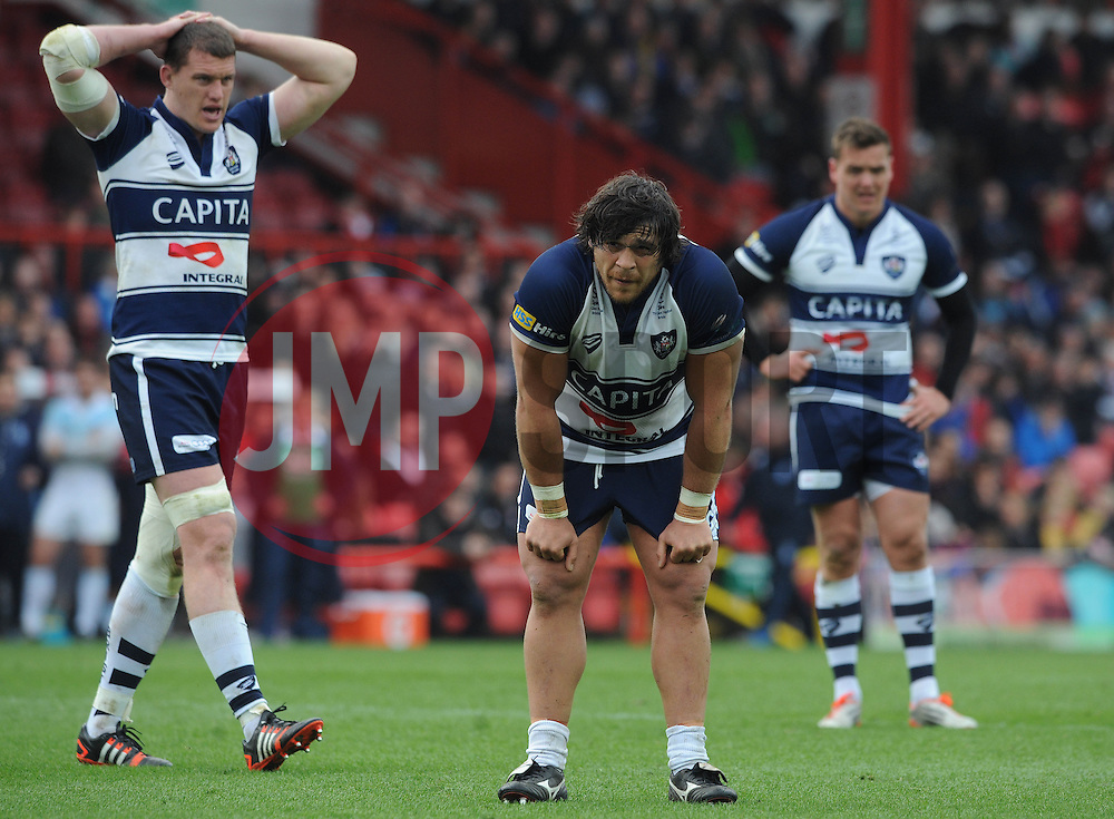 Bristol Rugby Prop Gaston Cortes - Photo mandatory by-line: Dougie Allward/JMP - Mobile: 07966 386802 - 29/03/2015 - SPORT - Rugby - Bristol - Ashton Gate - Bristol Rugby v Bedford Blues - Greene King IPA Championship