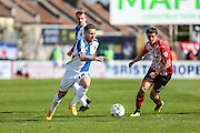 Bristol Rovers Matt Taylor on the ball during the Sky Bet League 2 match between Bristol Rovers and Exeter City at the Memorial Stadium, Bristol, England on 23 April 2016. Photo by Shane Healey.