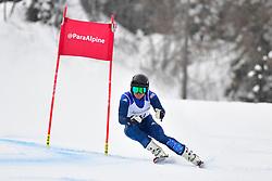 Super Combined and Super G, WHITLEY James, LW5/7-3, GBR at the WPAS_2019 Alpine Skiing World Championships, Kranjska Gora, Slovenia