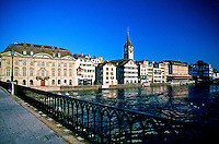 Along the Limmat River, Zurich, Switzerland