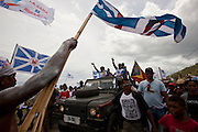 PD candidate Fernando Lasama de Araujo campaign to Tasitolu. Up to 3000 supporters came to hear him. Photo by UNMIT/Martine Perret. 12 March 2012