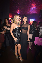 Left to right, Tallia Storm and Lucy Mecklenburgh at the Maybelline New York Bring on The Night party hosted by Adriana Lima & Jourdan Dunn at Scotch of St.James, 13 Masons Yard, England. 18 February 2017.