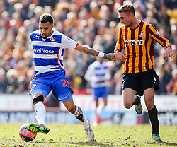 Reading's Danny Williams chased by Bradford City's Gary Liddle  - Photo mandatory by-line: Matt McNulty/JMP - Mobile: 07966 386802 - 07/03/2015 - SPORT - Football - Bradford - Valley Parade - Bradford City v Reading - FA Cup - Quarter Final