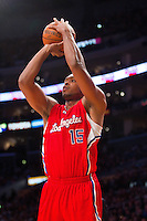 25 February 2011: Forward Randy Gomes of the Los Angeles Clippers  shoots the ball against the Los Angeles Lakers during the first half of the Lakers 108-95 victory over the Clippers at the STAPLES Center in Los Angeles, CA.