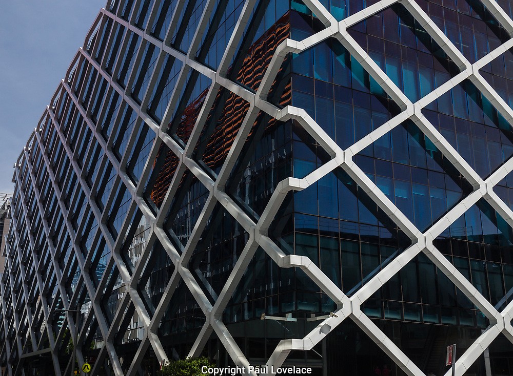 Open Sydney presented by Sydney Living Museuems. This event every year allows Sydneysiders to visit 40 of the city's most significant buildings and spaces across the CBD. Exterior of 1 Shelley Street, Macquarie Group, Sydney.