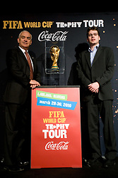 Franc Kopatin and ... at VIP reception of FIFA World Cup Trophy Tour by Coca-Cola, on March 29, 2010, in BTC City, Ljubljana, Slovenia.  (Photo by Vid Ponikvar / Sportida)