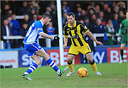 Phil Edwards, Ian Henderson during the Sky Bet League 1 match between Rochdale and Burton Albion at Spotland, Rochdale, England on 30 January 2016. Photo by Daniel Youngs.