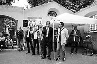 ROMA - 16 MAGGIO 2013: Il candidato a sindaco di Roma Alfio Marchini incontra gli anziani del Centro Anziani La Torretta durante la campagna elettorale per le elezioni amministrative a Roma il 16 maggio 2013.