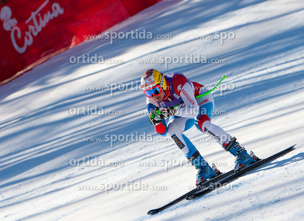 13.01.2012, Pista Olympia delle Tofane, Cortina, ITA, FIS Weltcup Ski Alpin, Damen, Abfahrt, 2. Training, im Bild Nadja Kamer (SUI) // Nadja Kamer of Switzerland during ladies downhill 2nd training of FIS Ski Alpine World Cup at 'Pista Olympia delle Tofane' course in Cortina, Italy on 2012/01/13. EXPA Pictures © 2012, PhotoCredit: EXPA/ Johann Groder