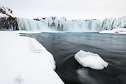 Godafoss waterfall in Northeast-Iceland