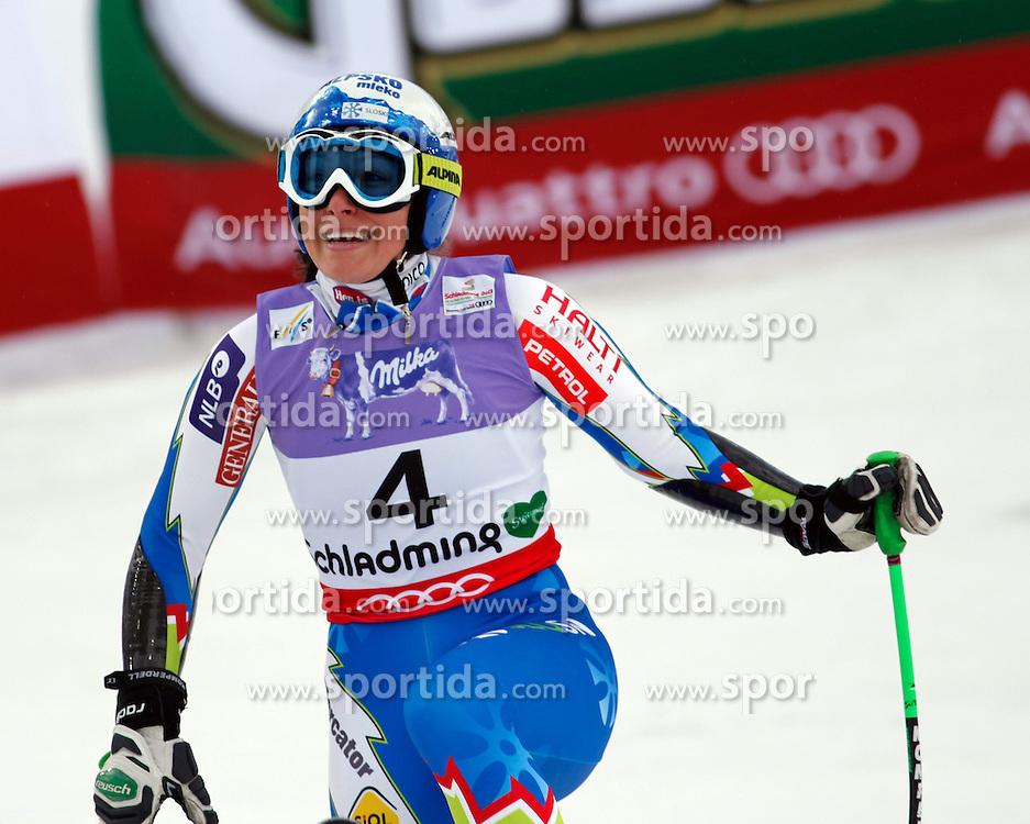 05.02.2013, Planai, Schladming, AUT, FIS Weltmeisterschaften Ski Alpin, Super G, Damen, im Bild Ilka Stuhec (SLO) // Ilka Stuhec of Slovenia during Super-G Ladies at the FIS Ski World Championships 2013 at the Planai Course, Schladming, Austria on 2013/02/05. EXPA Pictures © 2013, PhotoCredit: EXPA/ Martin Huber